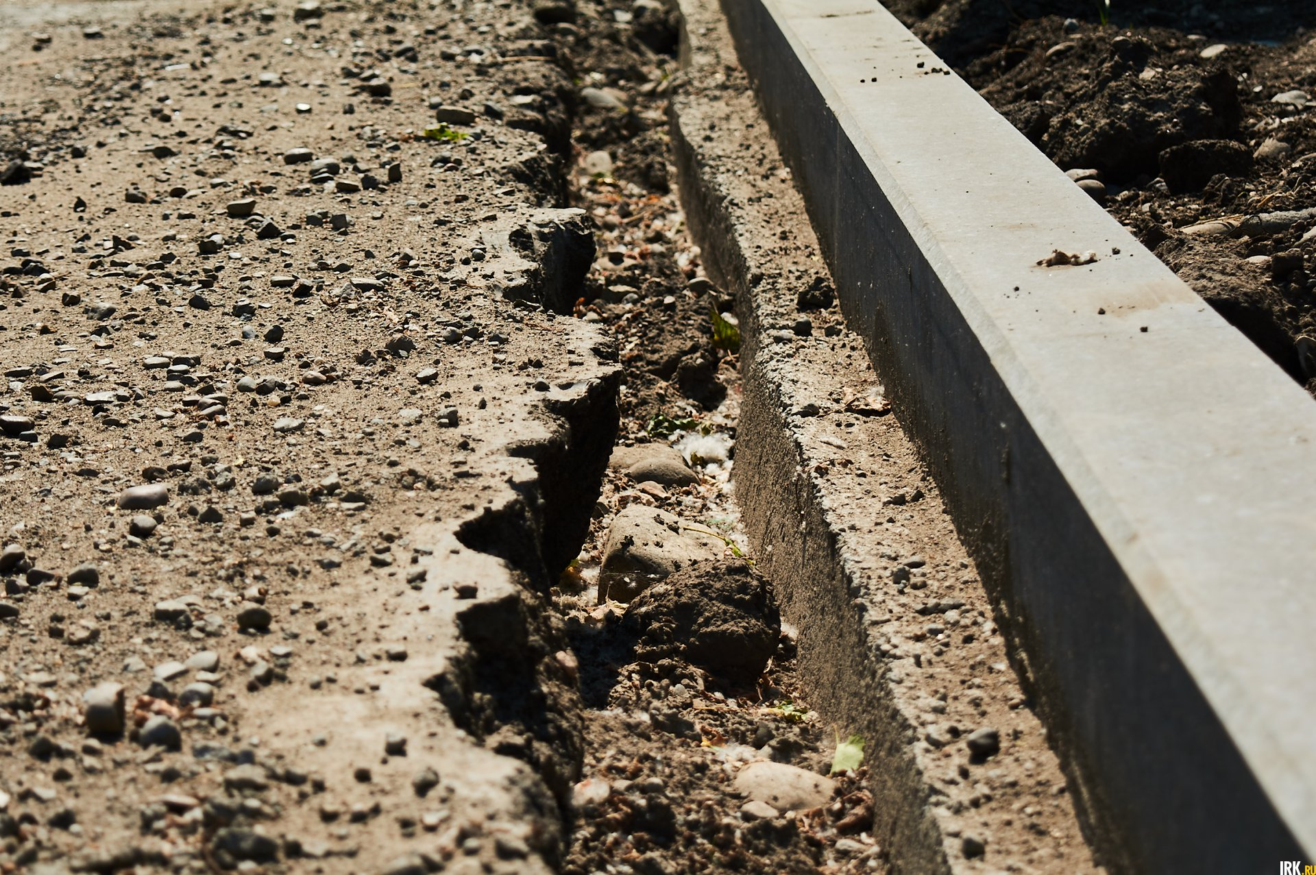 На участке сделают тротуары, которых раньше не было