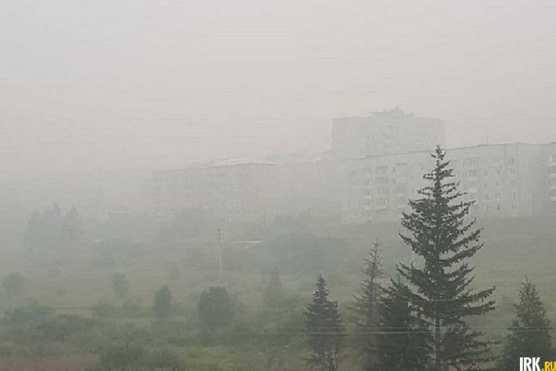 Задымление в Усть-Куте и Киренске летом 2019 года