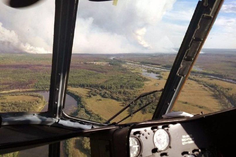 С 24 апреля из-за лесных пожаров был введен режим ЧС в Качугском районе