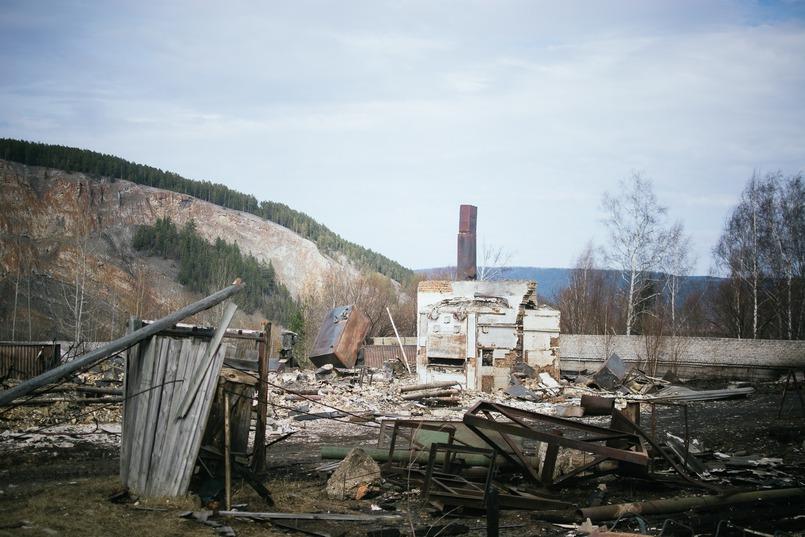 Последствия пожара в селе Бубновка Киренского района