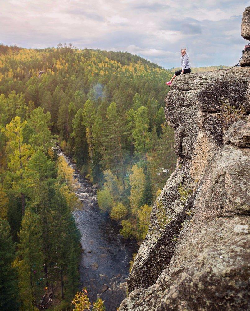 На вершине скальника будьте осторожны, чтобы не оступиться
