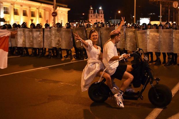 В Минске. Фото AFP, SERGEI GAPON