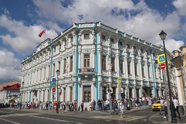 Возле посольства Белоруссии в Москве. Фото Станислава Красильникова, ТАСС