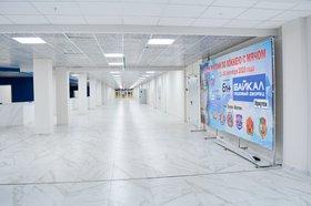 В холле ледового дворца «Байкал». Фото Маргариты Романовой, IRK.ru