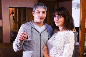 Первые новоселы жилищной программы РУСАЛа в Братске семья Мартыновых