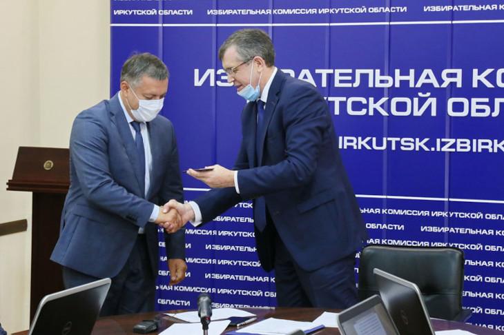 Игорь Кобзев и Илья Дмитриев. Фото пресс-службы Избирательной комиссии Иркутской области