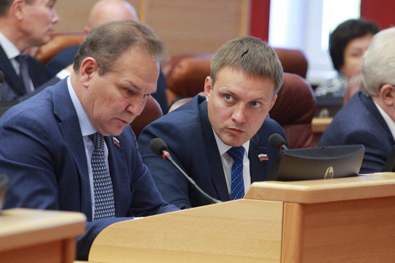 Председатель комитета по здравоохранению и социальной защите Александр Гаськов и заместитель председателя комитета  Артем Лобков