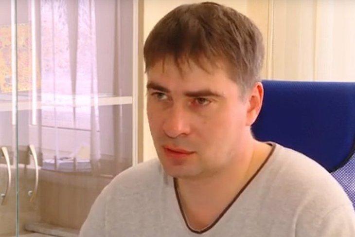 Директор ООО «Звезда» Олег Хамуляк. Скриншот сюжета ТК «Актис»