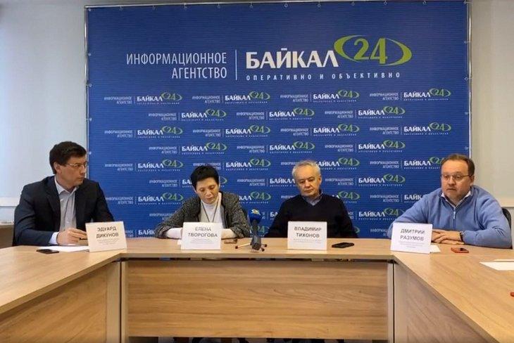 Скриншот видео с пресс-конференции