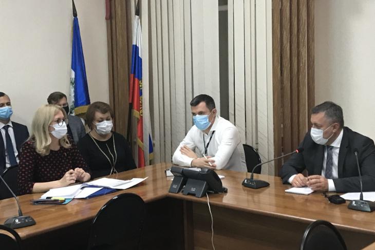 Представление Анны Даниловой коллективу. Фото пресс-службы правительства Иркутской области