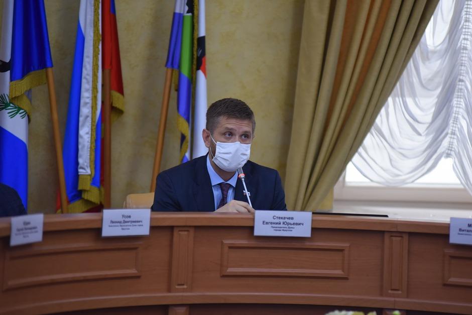 Председатель думы города Иркутска Евгений Стекачев