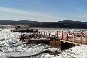 Мост через Лену. Фото пресс-службы Качугского района