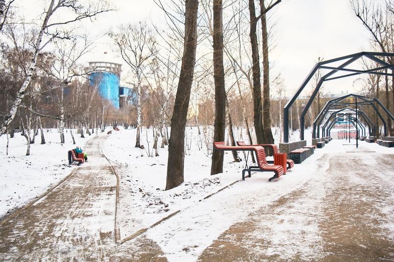 Благоустроенный парк Парижской коммуны