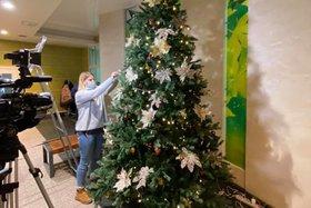 Волонтеры приступили к оформлению ёлок в медучреждениях Иркутска