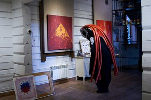 На выставке можно увидеть оживших персонажей из миров Степана Шоболова