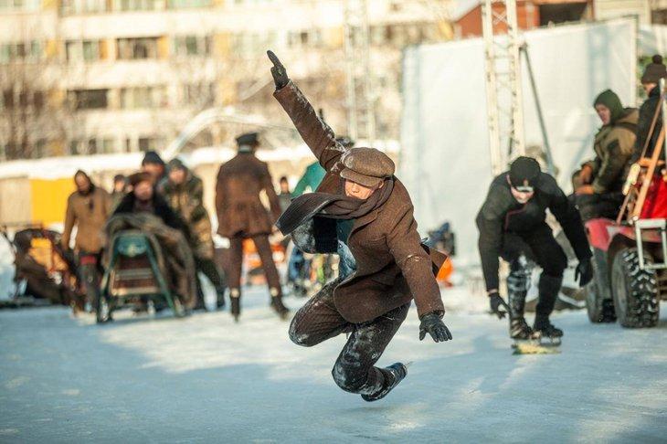 На съемках многие трюки актерам пришлось исполнять самим, но для сложных привлекали каскадёров. Фото Александра Острова