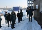 Посещение строительной площадки. Фото пресс-службы ГУ МЧС России по Иркутской области