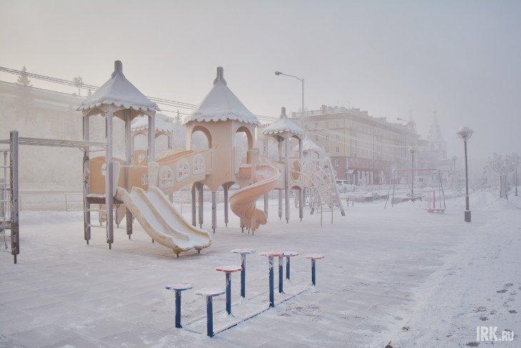 Детская площадка в Иркутске. Фото Маргариты Романовой, IRK.ru