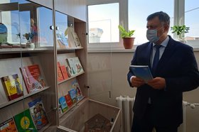 Игорь Кобзев на открытии. Фото пресс-службы правительства Иркутской области