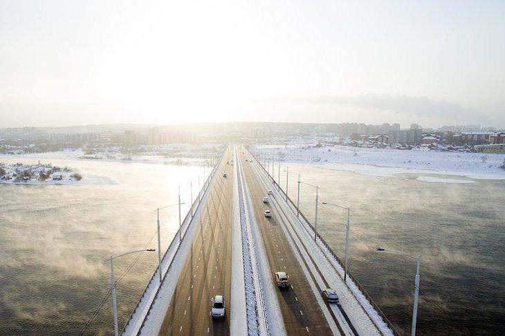 Академический мост. Фото со страницы администрации Иркутска в «Фейсбуке»