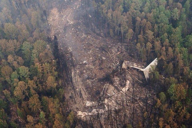 Ил-76 столкнулся с горой при тушении лесных пожаров в Качугском районе