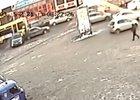 Момент ДТП. Фрагмент видео ГУ МВД России по Иркутской области