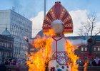 Сжигание Масленицы в 2020 году. Фото Анастасии Токарской, IRK.ru