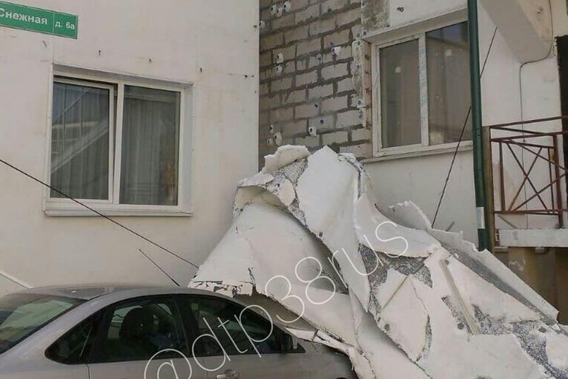 В микрорайоне Зеленый берег. Фото из группы «ДТП 38RUS»