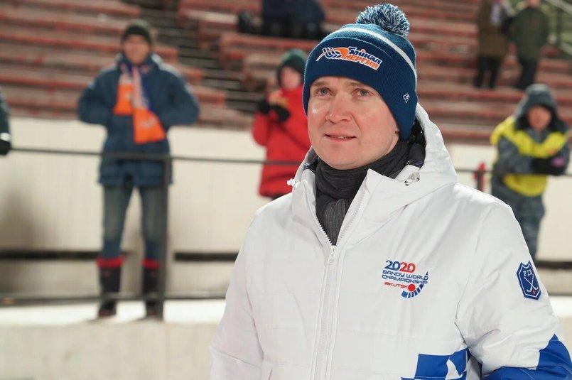 Михаил Хардиков на матче «Байкал-Энергии»