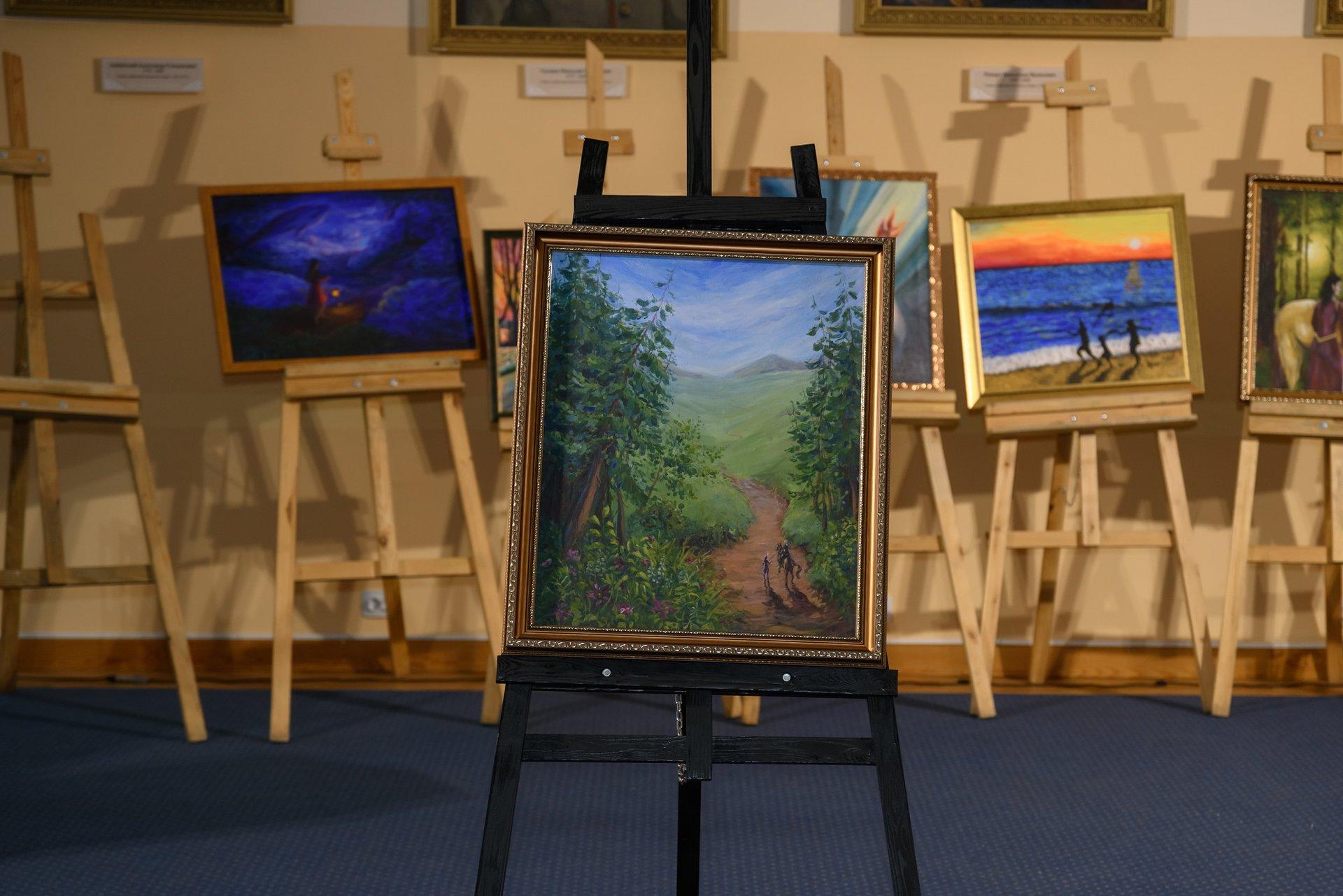 «В начале пути», художник - Анастасия Христолюбова. Мечтами делился Владимир, 16 лет