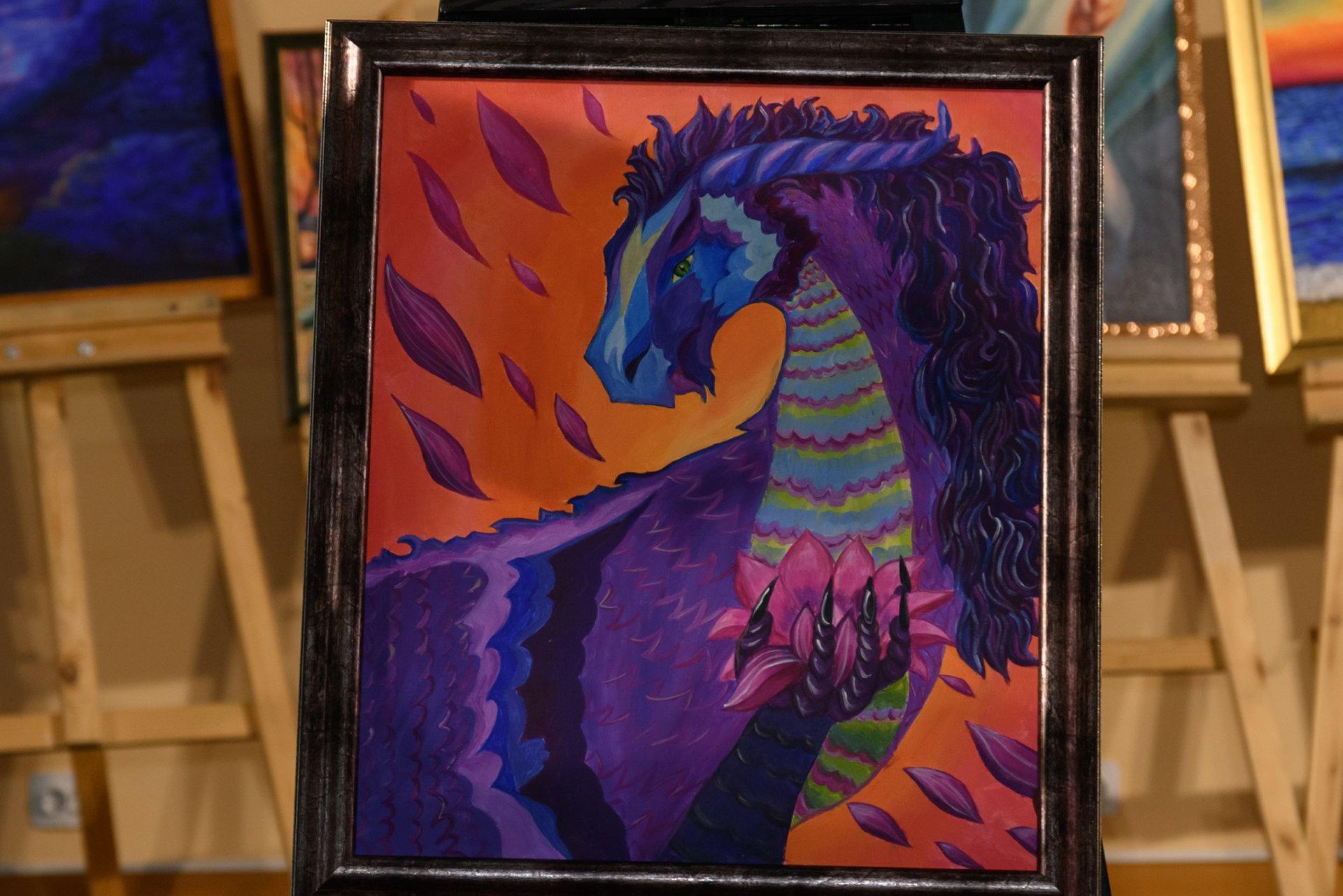 «Сердце дракона», художник - Мария Кочегина. Мечтами делился Никита, 9 лет