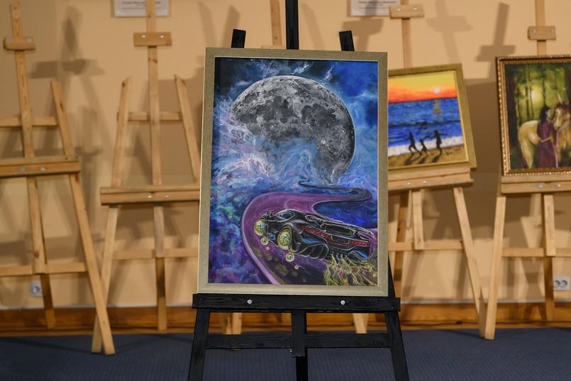 «Космическая скорость», художник - Ольга Мальцева. Мечтами делился Саша, 4 года