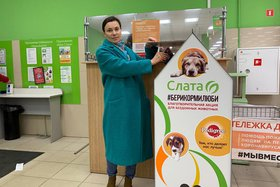 Сеть супермаркетов «Слата» запустила благотворительную акцию для животных #БериКормиЛюби