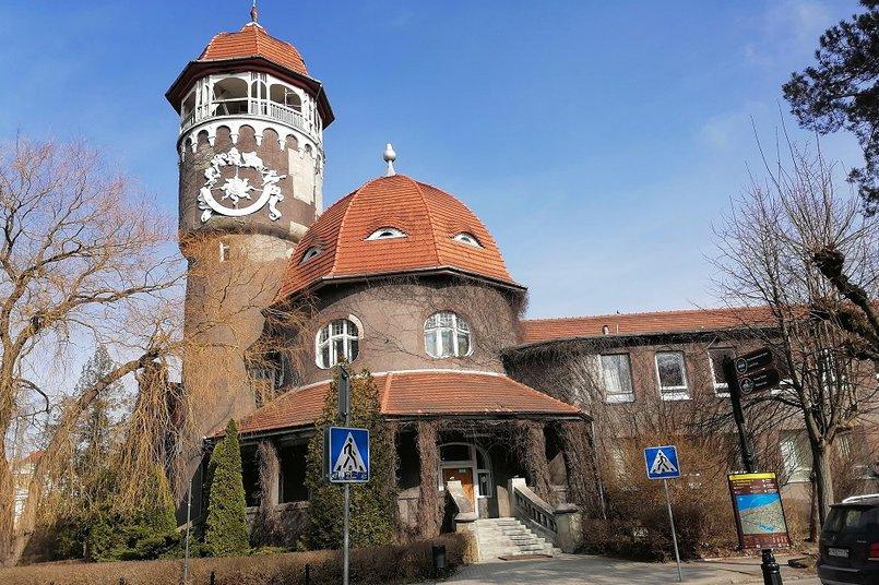 Светлогорск. Здание водогрязелечебнице. 1908 год. Сейчас сооружение чаще называют водонапорной башней