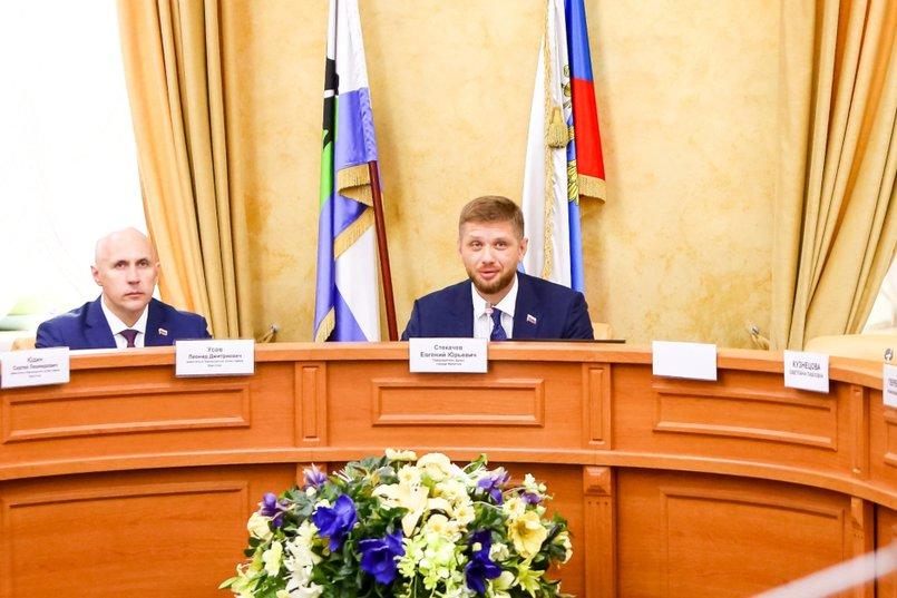 Евгений Стекачев, председатель думы Иркутска.  Фото пресс-службы Думы Иркутска