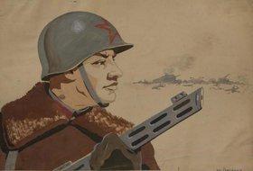 Плакат Победы. 80 лет Иркутской мастерской Окон ТАСС