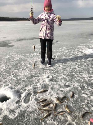 Успеваем рыбачить,пока лёд не растаял)