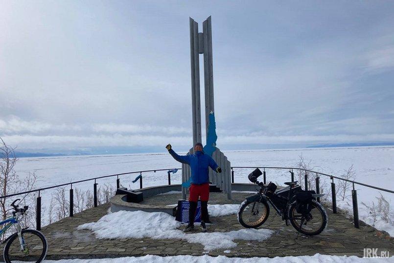 Евгений проехал 663 километров от Слюдянки до Северобайкальска за три дня и шесть часов