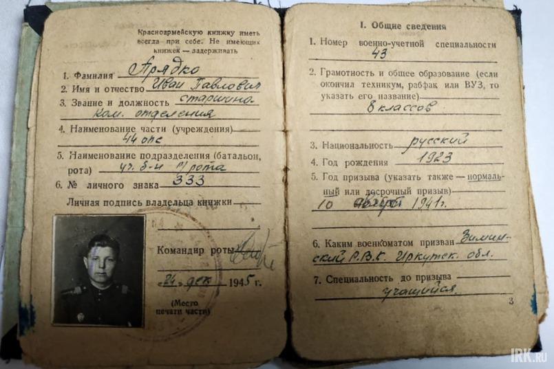 Документы Ивана Прядко