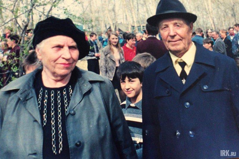 Иван Павлович с супругой, 1996 год
