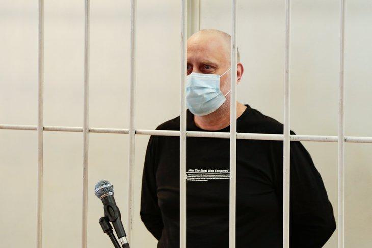 Евгений Баженов в суде. Фото пресс-службы УФСБ России по Иркутской области