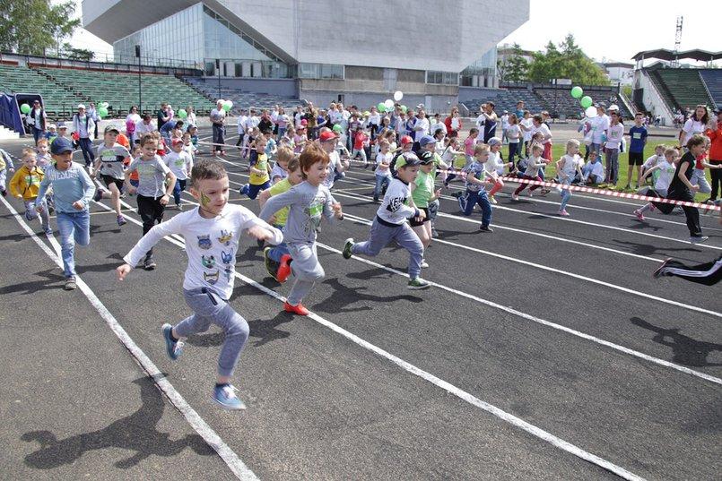 Детские забеги во время марафона в 2018 году