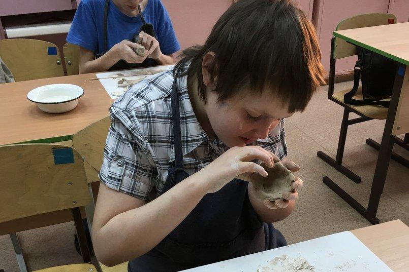 В школе слабовидящих