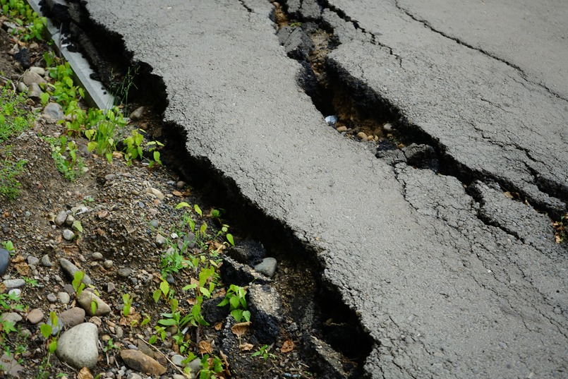 Разбитый тротуар на Ядринцева
