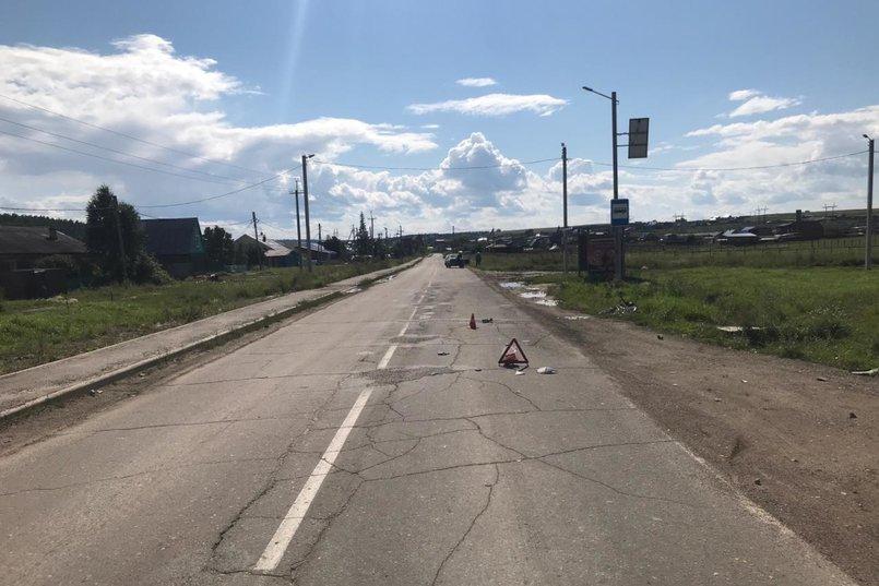 ДТП в деревне Малая Еланка Иркутского района