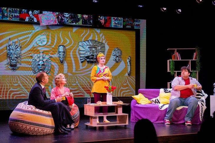 Сцена из спектакля «Один удар. Четыре мнения». Фото Эоэллы Кириленко