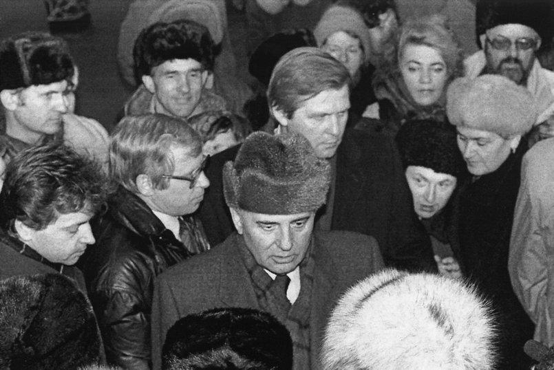 Михаил Горбачев в Иркутске