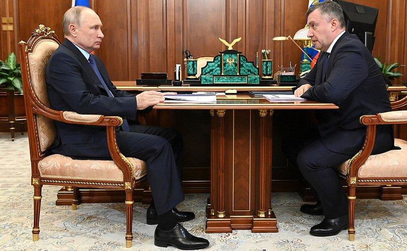 Игорь Кобзев на встрече с президентом Владимиром Путиным