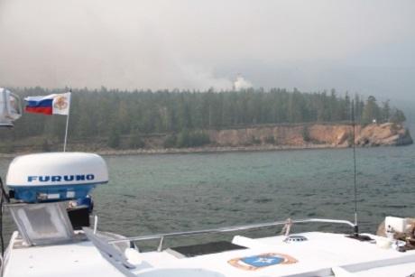 Пожар. Фото пресс-службы ГУ МЧС России по Иркутской области