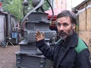 Скульптура Карима Мухамадиева. Фото Вести-Иркутск.
